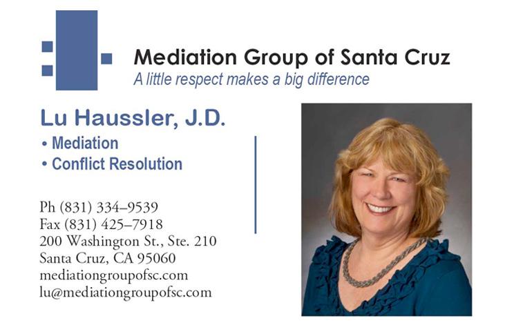 Mediation Group of Santa Cruz, Lu Haussler, J.D.
